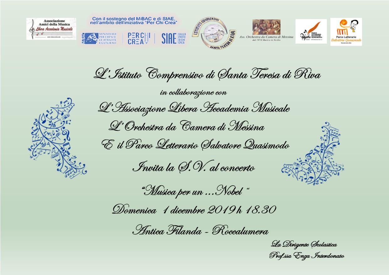 Invito concerto 1 dicembre