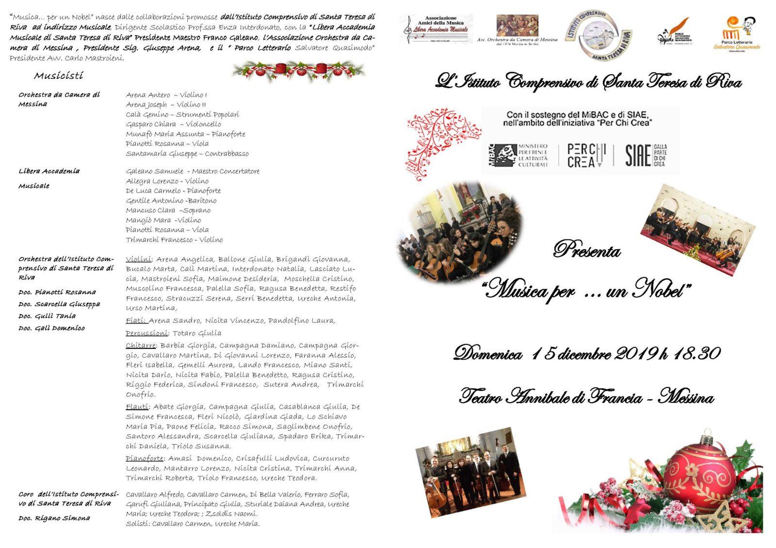 Programma di sala 15 dicembre