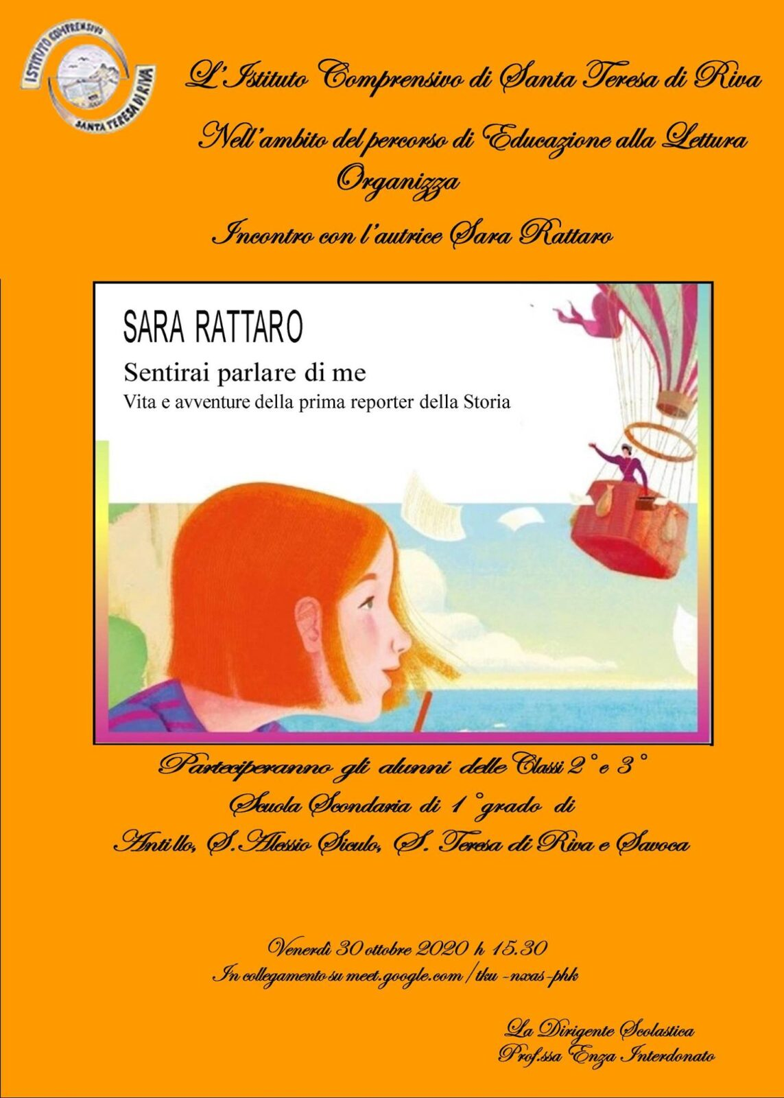 Incontro con l'autrice Sara Rattaro A.Sc. 2020/2021