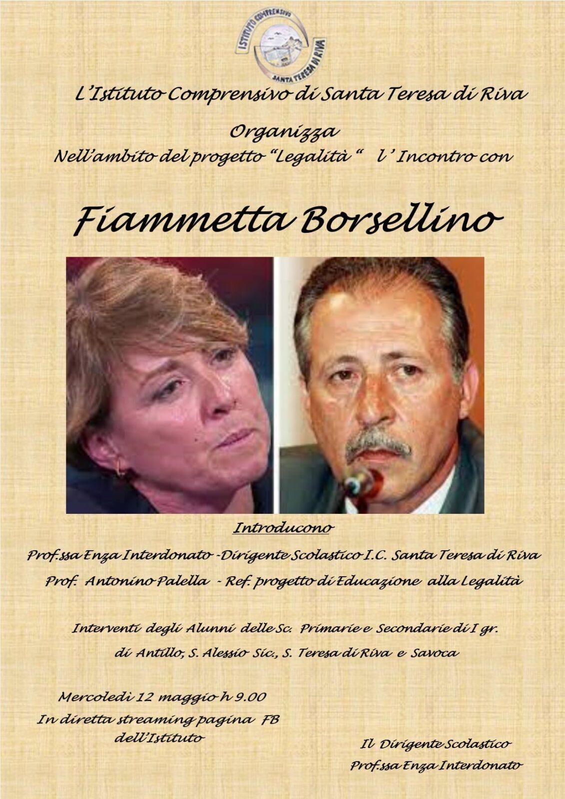 """Incontro con """"Fiammetta Borsellino"""""""
