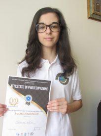 Alessi Eleonora classificata in I fascia ai giochi mate matici del mediterraneo (FASE NAZIONALE)